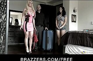 Hot Mean lesbian punishes blonde wife plays with strap