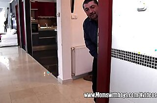 Spying Young Man Caught And Fucks Mature