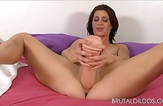 Cici Rhodes punishes her pink play with brutal dildos