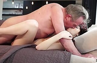 Old and Young Porn Sweet girlfriend gets her pussy fucked by grandpa