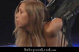 Innocent blonde slave spanked and hardfucked in bondage