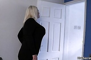 She finds him cheating with hot blonde fatty