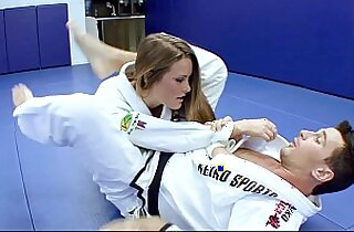 Horny Karate students fucks her ass with her trainer after a good karate session