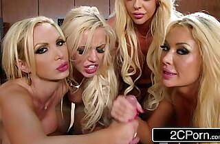 Blonde Orgy at the Office Courtney Taylor, Nikki Benz, Nina Elle, Summer Brielle