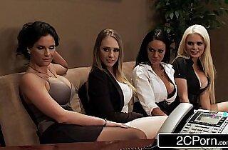 Office Orgy Alexis Ford, Angelina Valentine, Kagney Linn Karter, Phoenix Marie