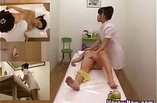 Asian webcam Girl Fingered During Massage