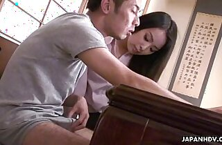 Sexy IT teacher pussy fucked by the nerdy student