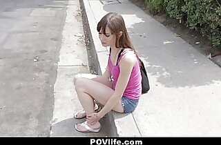 POVLife Brunette Chick Picked Up and Fucked