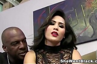 Jessica Bangkok humiliates her Cuckold with a Big Black Cock