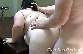 Mia Marks rough and hard hair pull casting sex , GlassDeskProductions