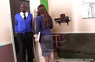 Janet Mason Gets her cunt Fucked By Two Horny Black Guys