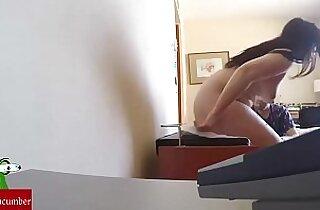 At the massage sex with a hidden cam.