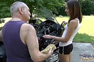 OLD YOUNG PORN Grandpa Fucks in Hardcore blowjob young girl pussy