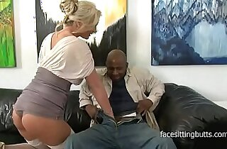 Horny cougar has a thing for huge monster black cocks