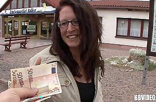 Busty german hooker fucked for money