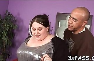 Great sex with chunky bitch