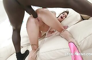 Blackbusters with Kacie Castle Balls Deep hard Anal DAP Gapes Crampie Swallow