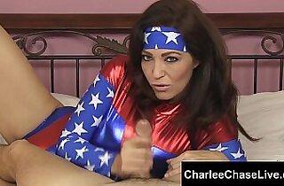 Big Tit Cosplay Slut Charlee Chase Strokes a Big Cock!