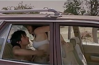 Fast quicky sex in the car orgasm