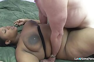 Busty bbw is getting rammed from behind