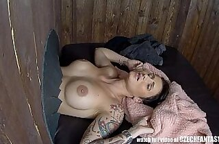 Big booty waitress Christy Mack fucks a customer in the bathroom