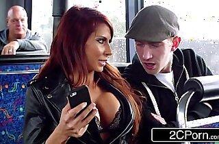 Steamy FFM Threesome on a Tour Bus in London Jasmine Jae, Madison Ivy