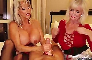 over Two grannies jerking you off