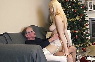 70 year old man fucks 18 year old girl swallows all his cum