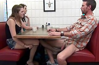 Cialis Porn Tube Buy Cialis daughter gives Footjob and BJ to not her dad Under the Table Porn Tube