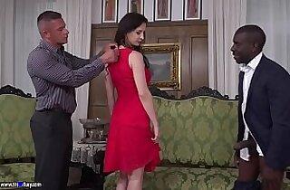Hot euro girl interracial double penetration