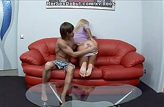 Baby doll porn with cutie jumping on rock hard dick