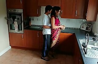 Red saree Bhabhi caught watching porn seduced and fucked by Devar dirty hindi audio desi chudai leaked sextape bollywood POV Indian